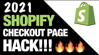Shopify Checkout Page HACK!!