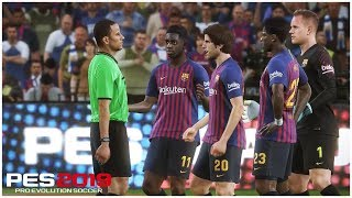 PES 2019 Indonesia Gameplay: FC Barcelona vs AC Milan, Atmosfer Camp Nou Luar Biasa (Demo)