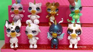 Sparkly Critters Go to the Park ! Toys and Dolls Pretend Play for Kids in Toy Playground | SWTAD
