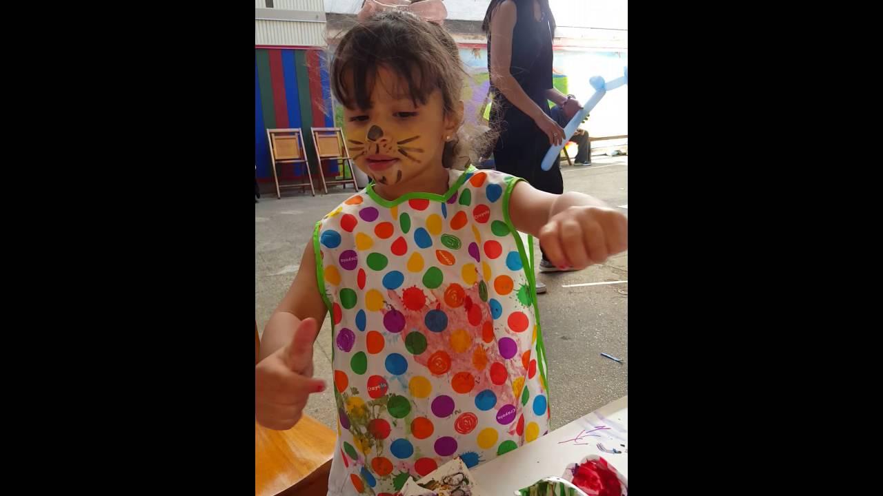 Amelia Painting At San Jose Day Nursery 2 1 2yr