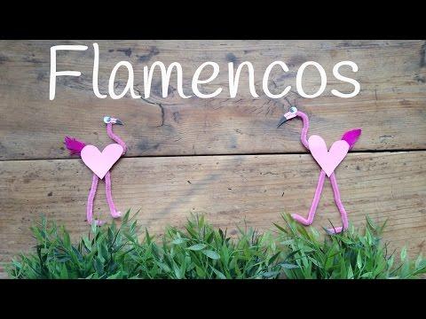 Haz tu propio flamenco de limpiapipas