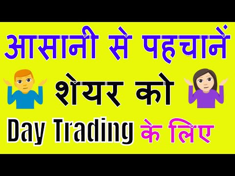 How To Select Stock For Intraday Trading......Technique 2
