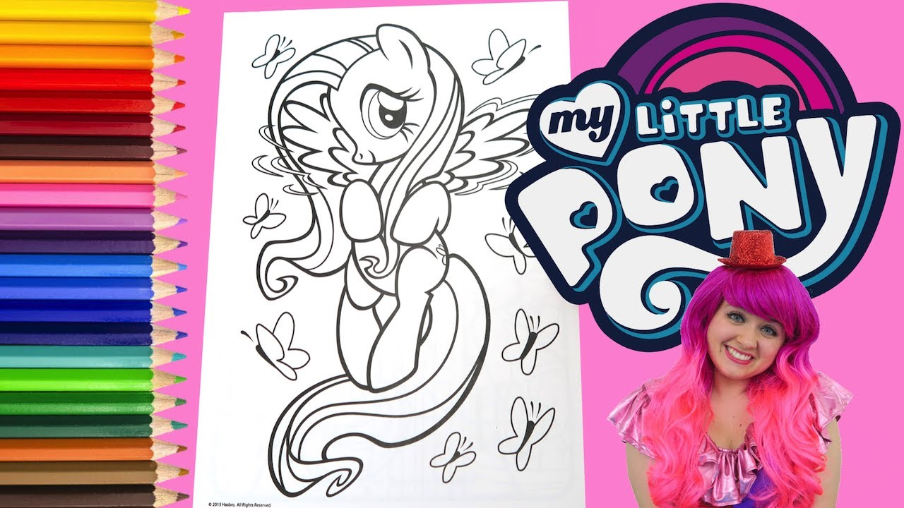 Coloring Fluttershy My Little Pony Coloring Book Page