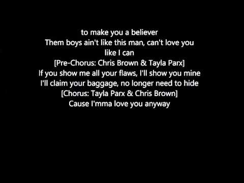 Anyway by: Chris Brown  Feat. Tayla Parx Lyrics