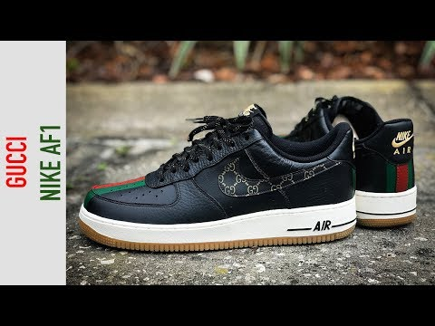How To Gucci Custom Shoes Nike Air Force 1 Timelapse Tutorial