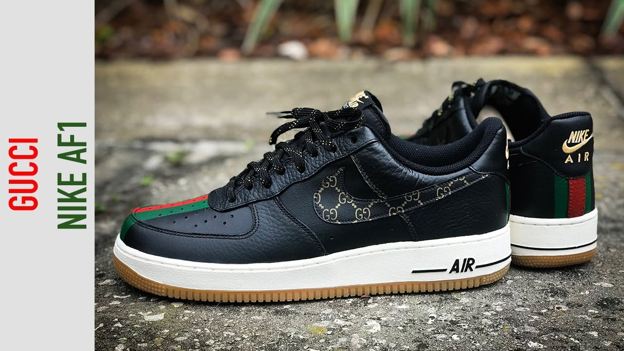 c28906a25a68 How To  Gucci Custom Shoes Nike Air Force 1 Timelapse Tutorial - YouTube