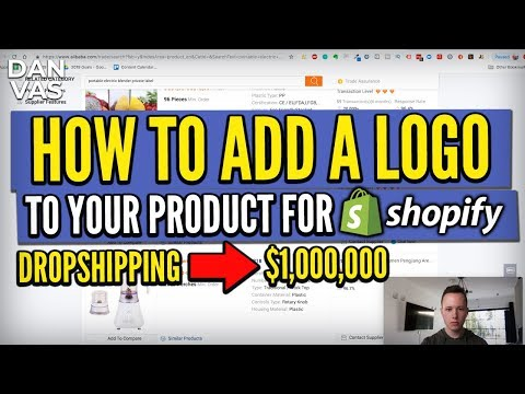 Shopify: Adding Your Logo Onto Your Product | From Dropshipping To Private Label thumbnail