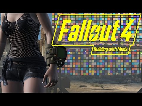 Building with Mods - 1829 LIGHTBOXES! - Inside Rooms - Weed Farm Starlight Drive in - Fallout 4 -