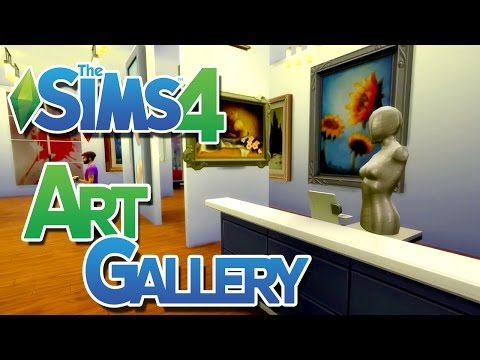 The Sims 4: Art Gallery Build (Retail Lot)
