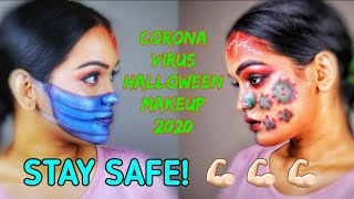🦠CORONA VIRUS Inspired HALLOWEEN MAKEUP 2020 🦠 | Malayalam | Go Glam with Keerthy Latest Video