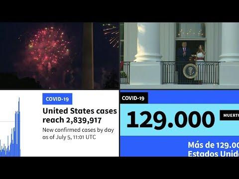 AFP Español: La pandemia empaña la fiesta nacional de EEUU y sigue creciendo en México | AFP