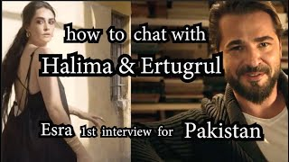 How to contact with Ertugrul & Halima - Esra photoshoot for Pakistan