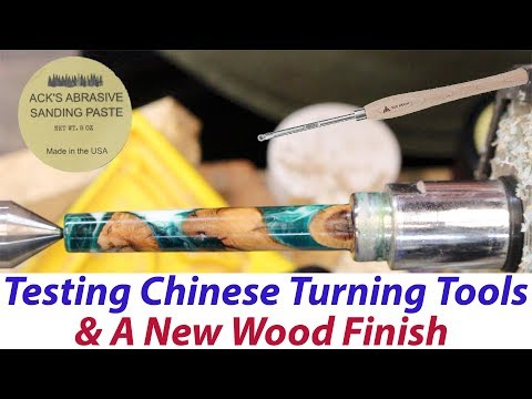 Testing Chinese Turning Tools & A New Wood/Resin Finish