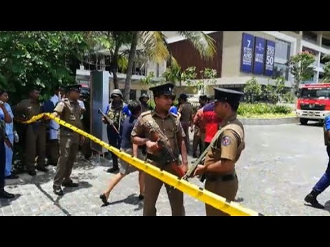 Police at Shangri-La hotel in Colombo as blasts hit Sri Lanka