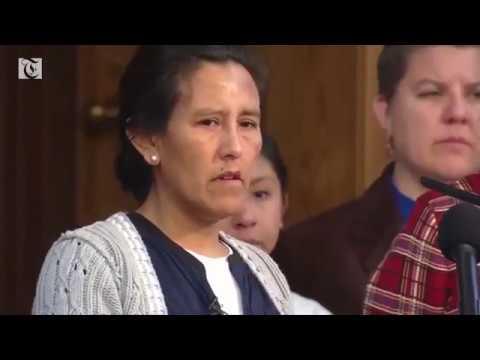 Mother facing deportation takes refuge in church