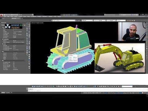 AutoCAD'de 3D Kepçe Çizimi 1. Bölüm
