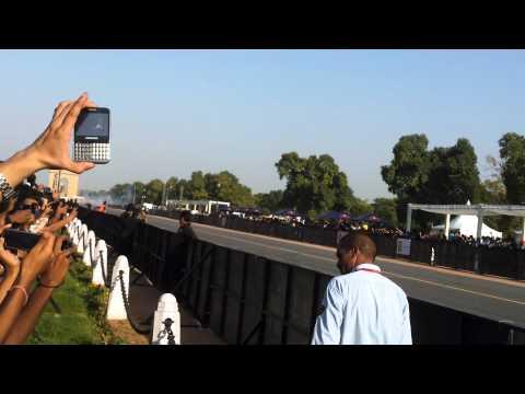 F1 car on Delhi street Rajpath !