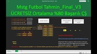 iddaa excel tahmin programı - Mstg Futbol Tahmin_Final_V3 %80 Başarılı Çifte Şans Tahminleri