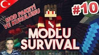 Minecraft Modlu Survival - Bölüm 10 - MOD PAKETİ ve KURULUMU !