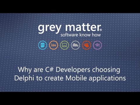 Why are C# Developers choosing Delphi to create Mobile applications
