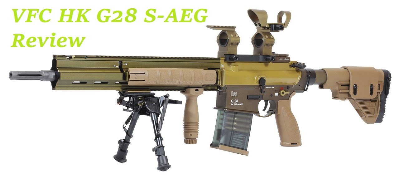 airsoft vfc hk g28 s aeg review 1 6 joule youtube. Black Bedroom Furniture Sets. Home Design Ideas