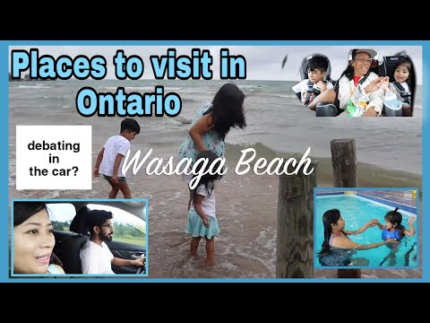 Vacation Vlog 1: Places To Visit In Ontario | Collingwood Downtown | Wasaga Beach | Hotel Tour