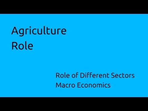 Role of Agriculture