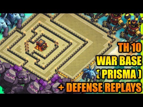 Clash Of Clans - New Town Hall 10 (TH10) WAR BASE 2017 + DEFENSE REPLAYS |ANTI 2 STAR |ANTI VALKYRIE