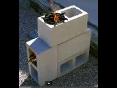 How To Make A Stove/Grill Out Of Cinder Blocks - YouTube