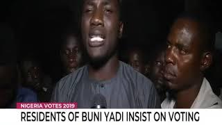 Residents of Buni Yadi insist on voting