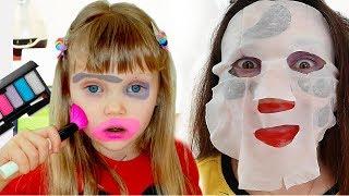 Настя про игры с косметикой для детей