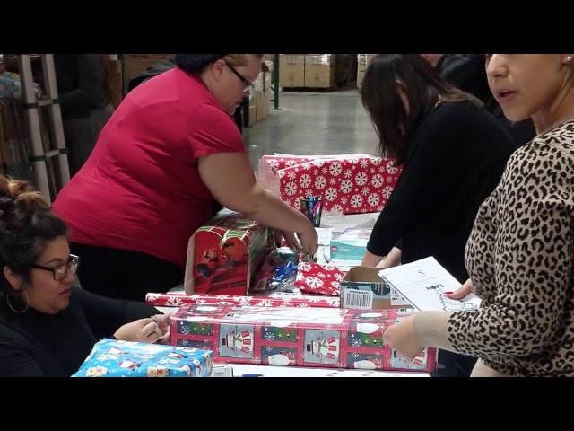 Gift Wrapping Party for Giving Children Hope