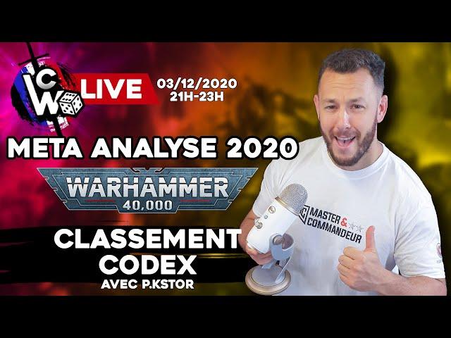 Warhammer 40.000  CLASSEMENT CODEX 2020 - Metagame analyse -