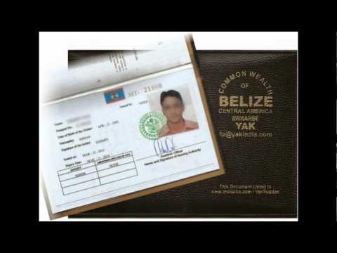 Cameroon - Belize cdc coc / Seaman book - Ghana