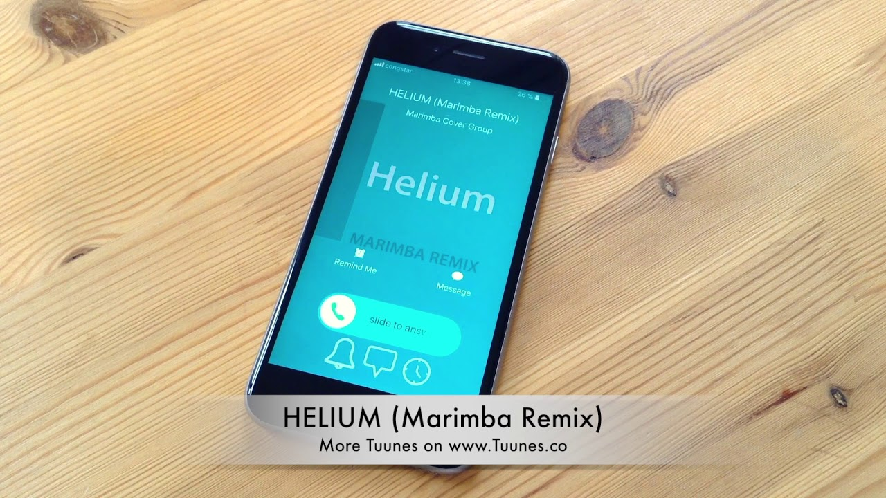 iphone marimba remix helium ringtone sia david guetta amp afrojack tribute 12022