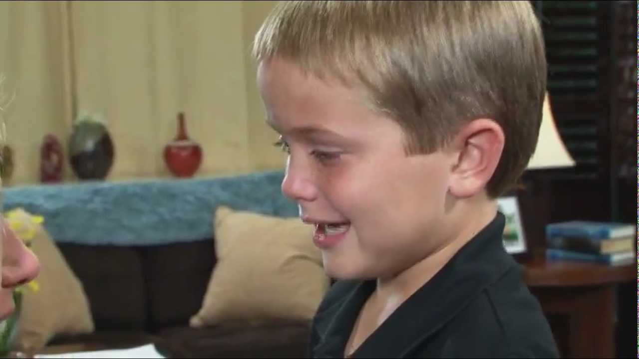 mother hears 8 year old son s voice for the first time on the