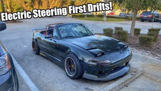 homepage tile video photo for Electric Steering Column In a Drift Car! First Drift Event! Is It Any Good!?