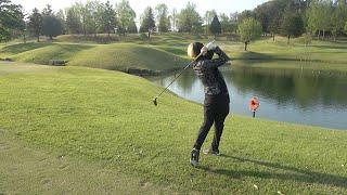 【池を越えろ】ネクステでゴルフ対決したらあり得ないスーパーショット炸裂で素人なのに大白熱したww