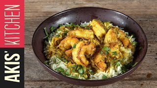 Spicy coconut shrimp with turmeric | Akis Kitchen