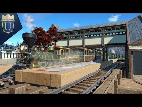 First Train Station! | Planet Coaster | Alpine Odyssey | Part 17