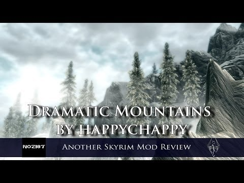 Another Skyrim Mod Review - Dramatic Mountains By