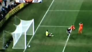 ANDRES INIESTA schiesst spanien zu WM 2010 Sieger