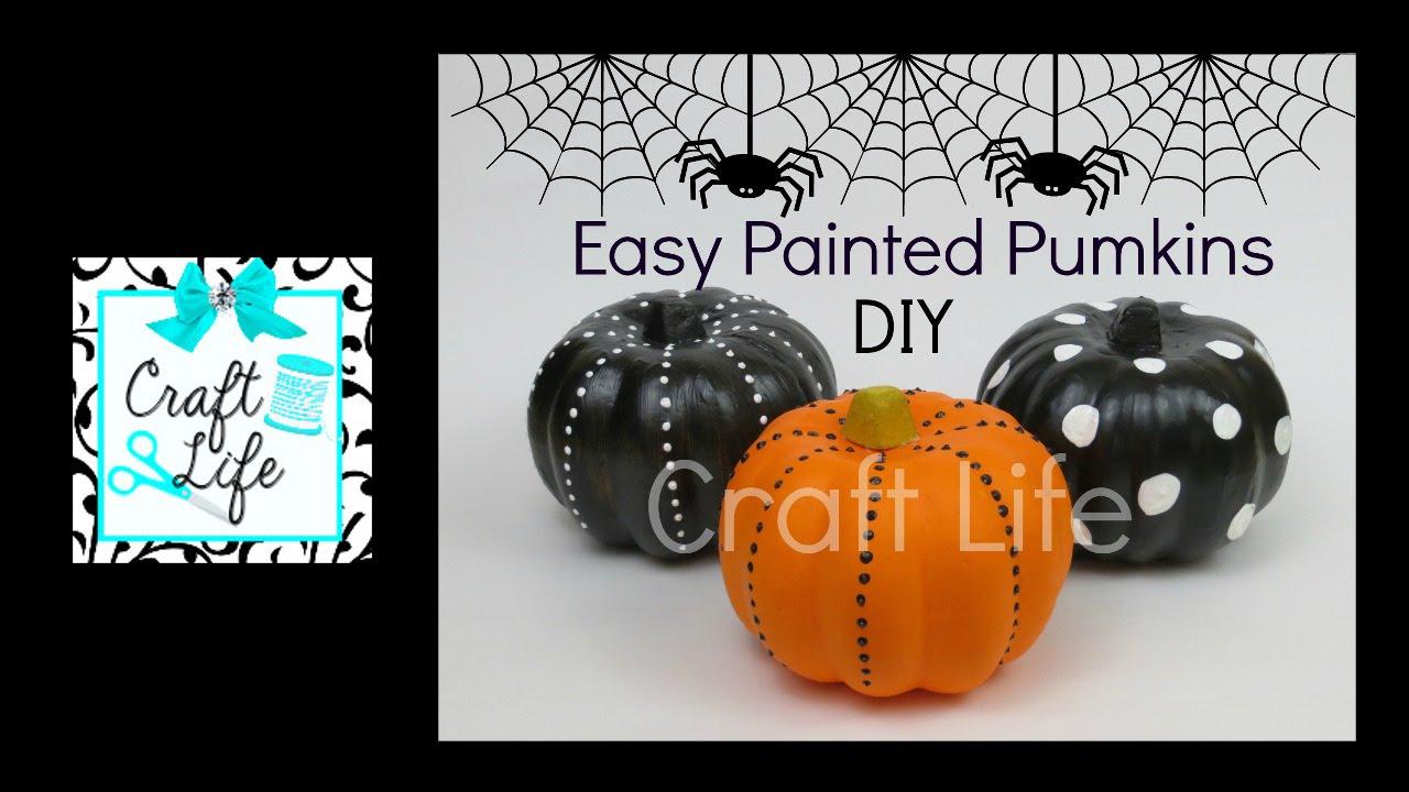craft life fun easy diy painted pumpkins halloween room decor youtube - Halloween Room Decor