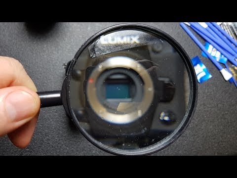 Cleaning my micro four thirds camera sensor...not that hard to do!
