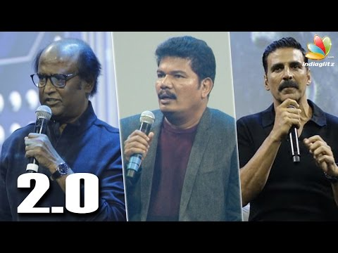 Akshay Kumar Is Not The Villain In 2.0 : Rajini Speech  | Shankar's Robo First Look Launch