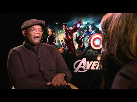 THE AVENGERS Samuel L Jackson (Nick Fury, S.H.I.E.L.D Leader) Exclusive Interview
