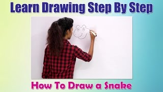 How to Draw Animals For Children | How to draw a Snake | Learn Drawing Step By Step For Beginners