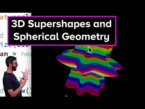 Live Stream #47 - 3D Supershapes and Spherical Geometry