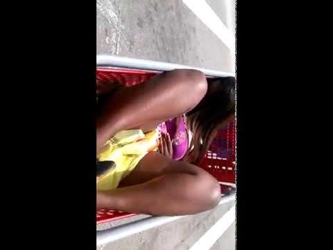 Drunk chick in cart Avondale cincinnati Ohio