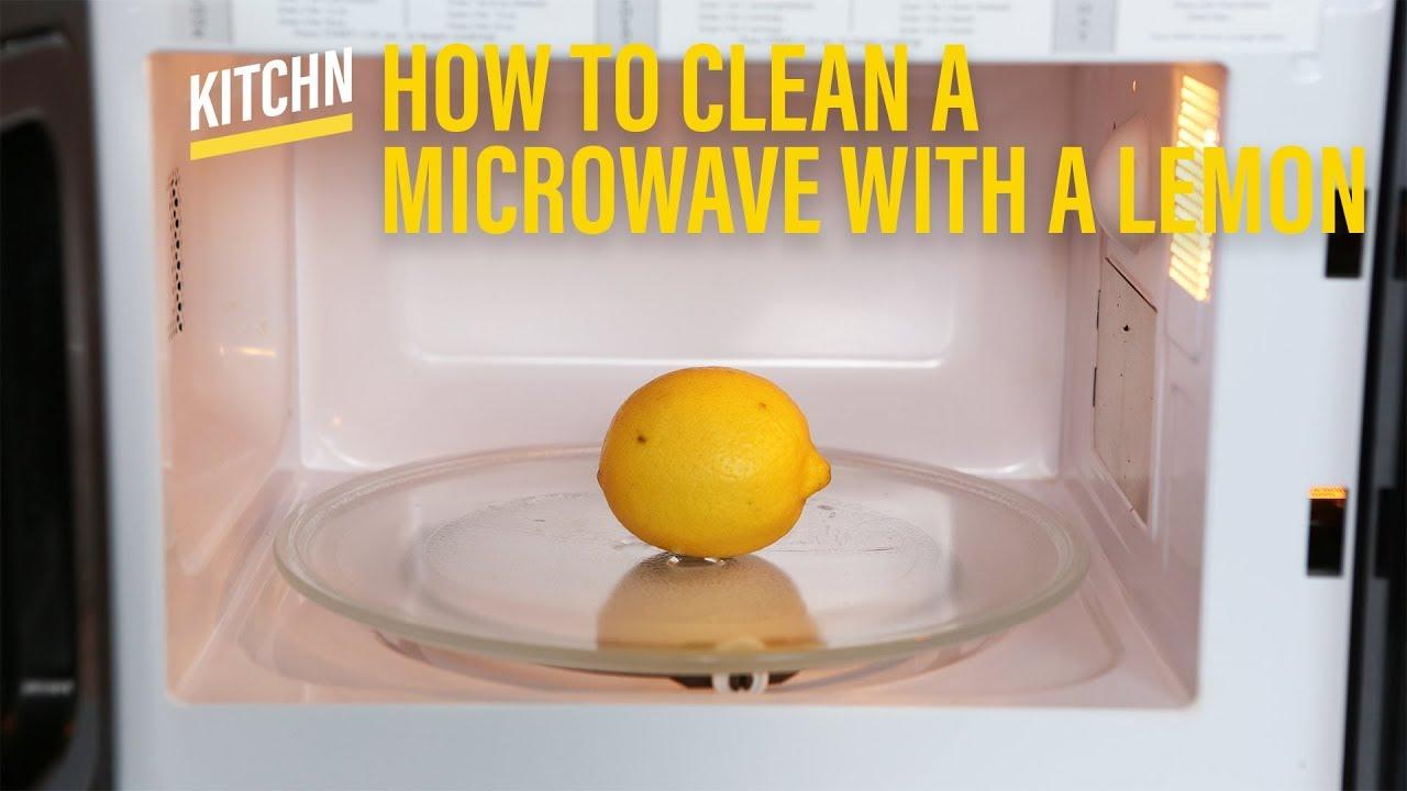clean a microwave with a lemon kitchn tricks